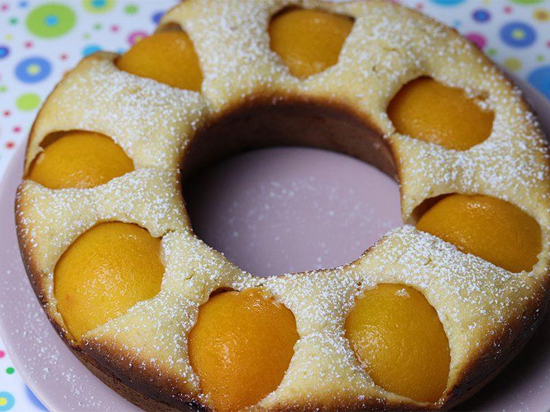 Schneller Pfirsichkuchen