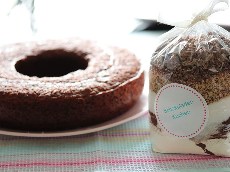 DIY-Backmischung: Schokoladenkuchen